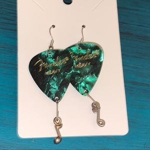 🆕 Fender Guitar Pick Dangle Earrings